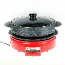 Electric Hot Pot Roast Shabu Shabu One Pot No Paste Barbecue Pan Korean Style Barbecue More Function Tortoise Pot