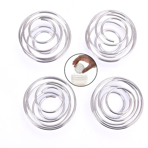 1/4PCS Healthy Stainless Steel Whisk Ball Mixed Shaker Protein Fitness Water Bottle Juice Milk Mixer Convenient Drink Gadget