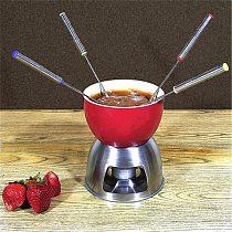 6PCS/Set Stainless Steel Chocolate Fork Hot Pot Forks Cheese Fruit Dessert Fork Fondue Melting Skewer Kitchen tableware Tools