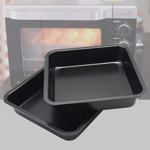 Mini Square Cake Pan Carbon Steel Cake Baking Pan Anti-Stick Bread Cookie Making Dishes Moldes Para Hornear Oven Metal Cake Pan