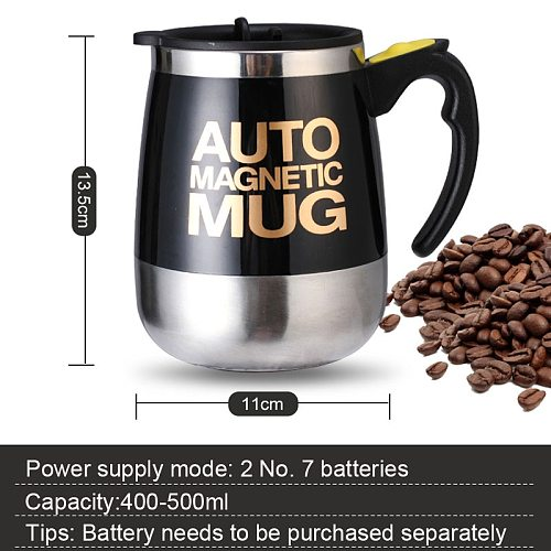 Electric Automatic Magnetic Stirring Mug Smart Mixer Coffee Thermos Cup Stainless Steel Juice Milk Mixing Cup Cute Water Bottle