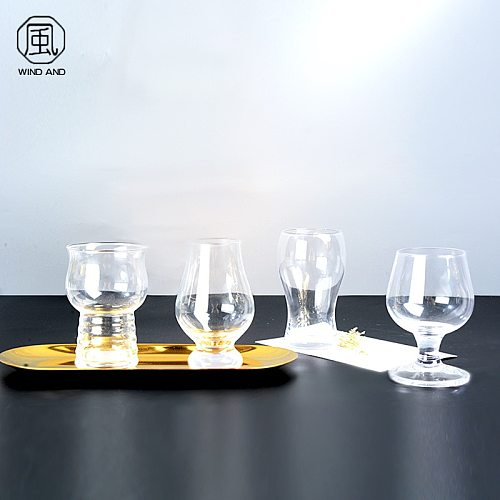 Household Glass Mini TikTok Beer Steins Thickened Net Red Creative Beer Cup Craft Wheat Wine Glass Bar Wine Set