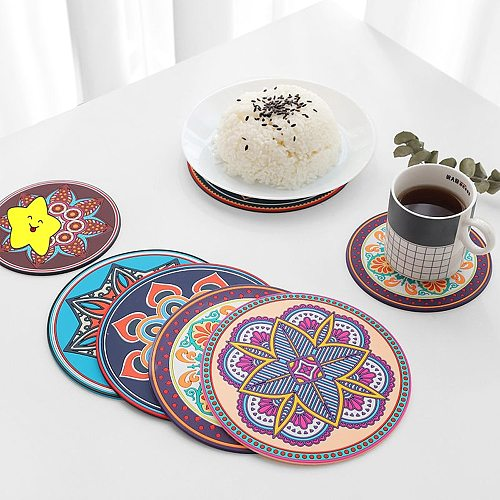 Silicone Hot Pot Pads for Kitchen 6.9 Inch Round Hot Trivets for Dining Table Hotpads for Cooking Potholders for Kitchens
