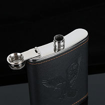 Stainless Steel Hip Liquor Whiskey Alcohol Flask Cap 7-9oz Pocket Wine Bottle Durable Solid