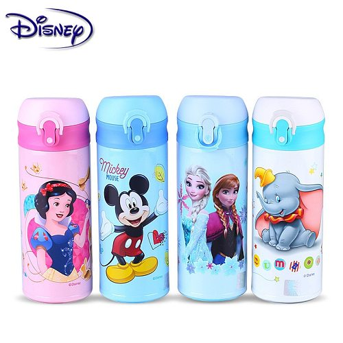 350ML Disney Mickey Snow White Cup 316 Stainless Steel Water Bottle Vacuum Insulation Mug Feeding Baby Cups Girl Bottle Gifts