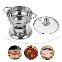 1 set of Durable Portable Alcohol Stove Hot Pot Stove Cooking Stove Mini Pot Kitchen Pot