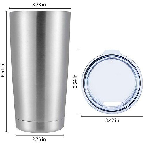 Stainless Steel Tumblers Bulk 4-Pack 20Oz Double Wall Vacuum Insulated Bulk Cup Coffee Mug with Lid, Travel Mug