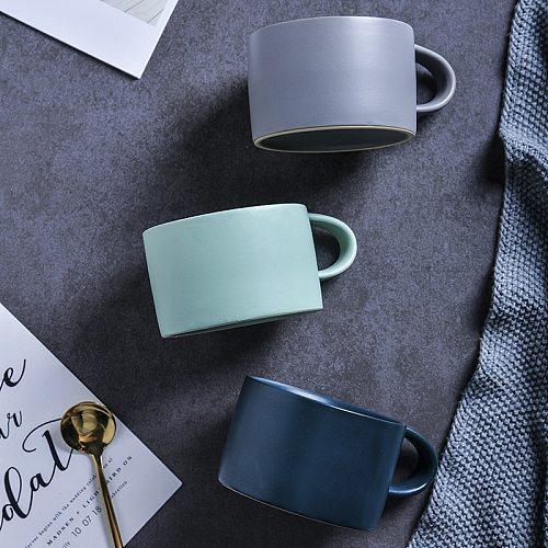 Nordic Matte Ceramic Coffee Cups Saucer Set Household Cafe Espresso Tea Mugs INS High Grade Creative Small Capacity Cappuccino