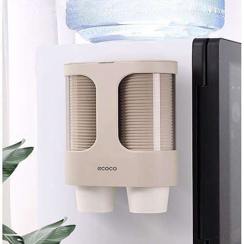 Dispenser Plastic Cup Holder Disposable Paper Cups for Water Dispenser Wall Mounted Automatic Cup Storage Rack Cups Container