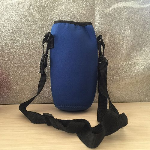 Large Capacity Vacuum Flask 1000ML Water Bottle Carrier Insulated Cover Bag Holder Strap Pouch Outdoor Thermal Mug