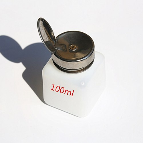 High quality 100ml 200ml 250ml Alcohol  bottle Empty Pump Liquid Alcohol Press Nail Polish Remover Cleaner Bottle Dispenser