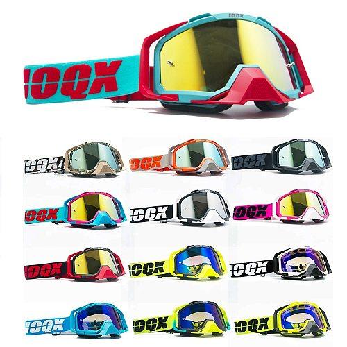 IOQX Motorcycle Protective Gears Flexible Cross Helmet Face Mask Motocross Goggles ATV Dirt Bike UTV Eyewear Gear Glasses