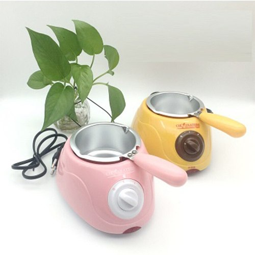 Hot Selling home Electric Chocolate Fountain Fondue Singer Chocolate Melt Pot Yellow and Pink Melting Machine