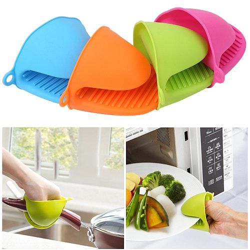 Food Grade Silicone Insulated Heat Hot Plate Clip Microwave Oven Gloves Thicken Anti-scald Kitchen Organizer Silicone Pot Clips