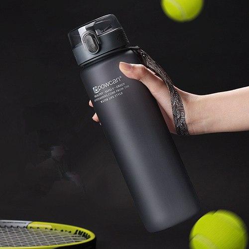 Sport Water Bottles 800/1000ML Protein Shaker Outdoor Travel Portable Leakproof Tritan Plastic Direct Drinking Bottle BPA Free