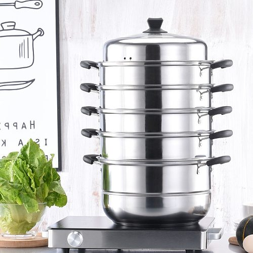 Double boilers steamer soup stew pot  kitchen cookware Stainless Steel Steaming Pot Non-stick pan cooking  gas Induction cooker