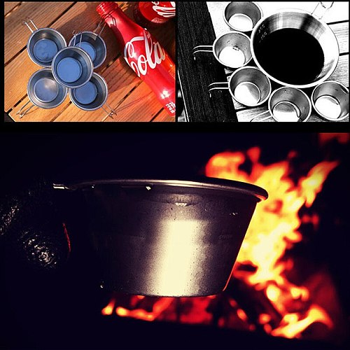 Outdoor Stainless Steel Wine Cup Set Mountaineering Camping Barbecue Tourist Portable Water 50ml cookware water bottle mug