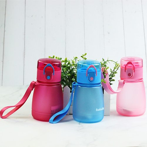 Wind Flower 320ml Child Pipette With A Rope To Carry And Prevent Leakage Plastic Kids Water Bottle
