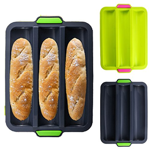 Silicone Baking Tray Bakeware Non-stick Mold Styles For Baking French-Bread Breadstick Bread Roll Bakery Cake Mold Tools