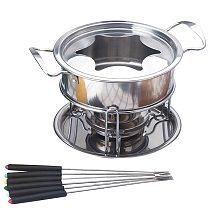 10-Piece Set Multifunctional Stainless Steel Ice Cream Chocolate Cheese Hot Pot Melting Pot Fondue Set Kitchen Accessories-ABUX