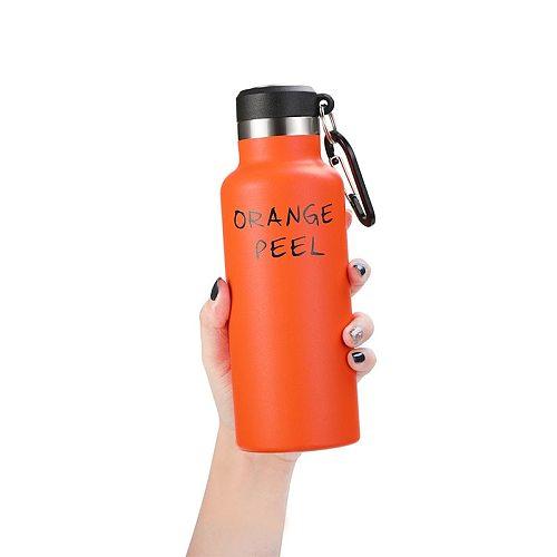 350ml 500ml stainless steel vacuum flask sports metal water bottle outdoor travel vacuum cup bicycle hiking mountaineering flask