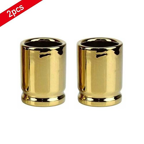 2Pcs Bullet Glass Steel Beer Mug Durable And Easy To Clean Fashionable Unique Bar And Home Supplies Drinking Tool