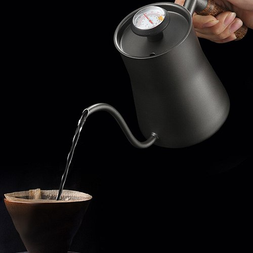 Dripping kettle 650ml coffee teapot non-stick coating food grade stainless steel dripping kettle swan neck narrow mouth pot