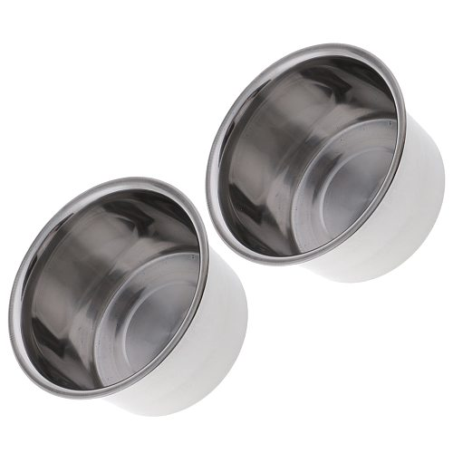 2 Set Stainless Steel Candle Wax Melting Pot Double Boiler Base Tool for DIY Scented Candle Handmade Soaps Making Craft Silver