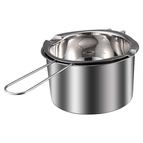 1 Set Double Boiler Pot Stainless Steel Chocolate Pot Melting Pot Universal Wax Pot Candle Melting Pot Water Heating Pot