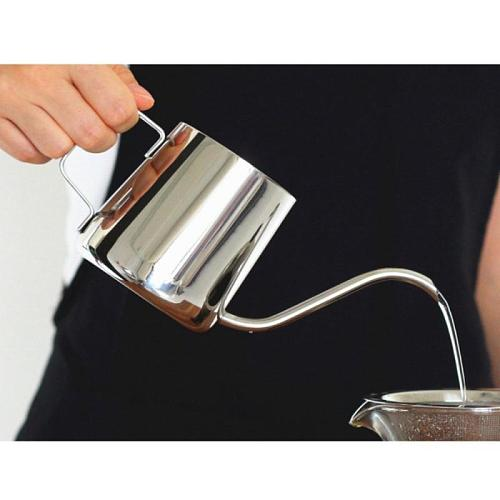 250Ml Stainless Steel Long Narrow Spout Coffee Pot Gooseneck Kettle Hand Drip Kettle Pour Over Coffee Pot And Tea Pot