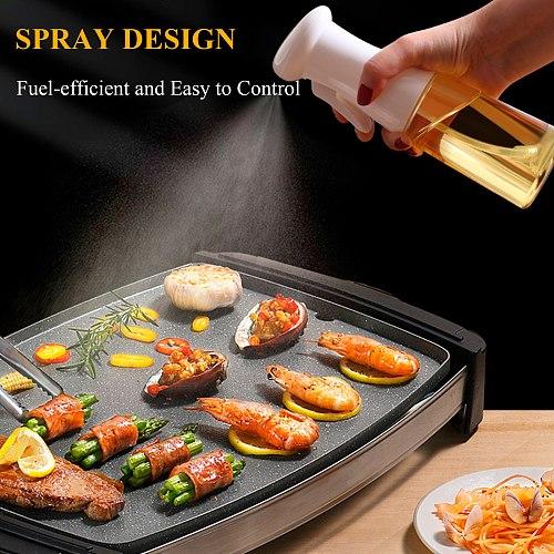 Kitchen Olive Oil Sprayer Empty Bottle Leak-proof Grill Sprayer Vinegar Oil Dispenser For BBQ Baking Roasting Cookware Tools