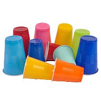 8pcs Multiple Colour Plastic Cup Disposable Tableware Drink Fruit Juice Cups for Weddings Birthday Party Decor Supplies