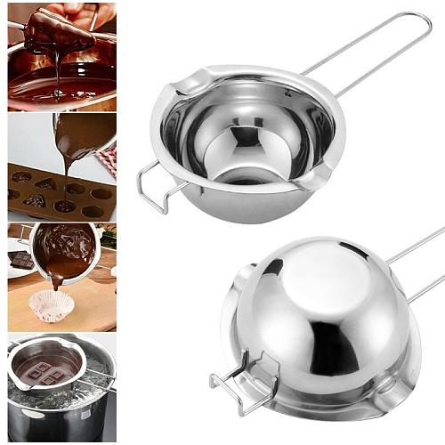 DIY Stainless Steel Double Boiler Long Handle Wax Melting Pot Pitcher & Mixing Spoon Candle Soap Making Scented Can Kitchen Tool