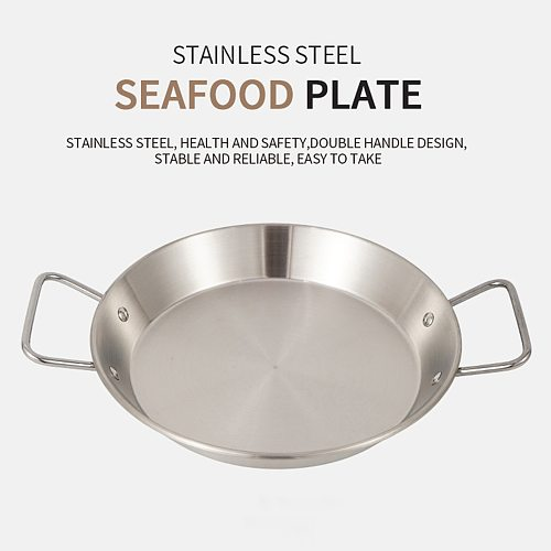 304 Stainless Steel Skillet Household Induction Compatible Nonstick Fry Pan Cookware Use for Kitchen Restaurant 25cm