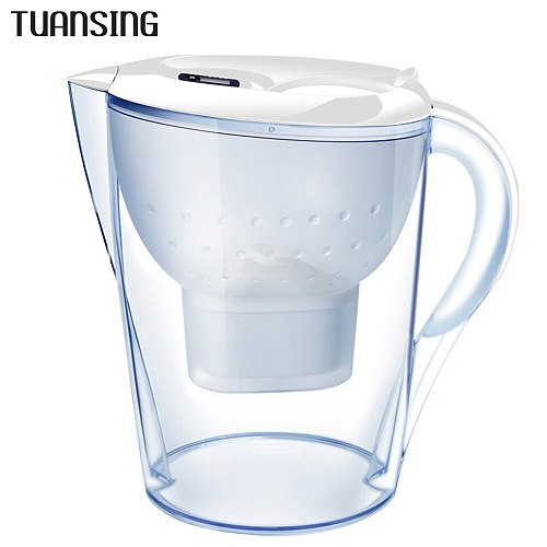 TUANSING 3.5L Water Pitcher Pure Healthy Mineral Water with 1 Filter Jug BPA Free Filter Kettle Water Jug with Filter Element
