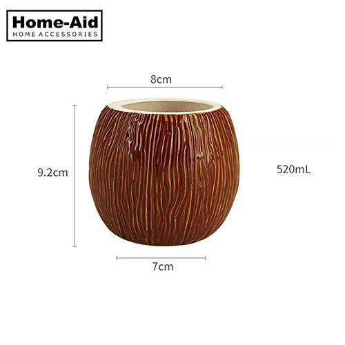 520ml Coconut Shape Hawaii Tiki Mugs Ceramic Mug  Mug For Gifts Cups And Mugs Cocktail Cup