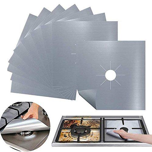 4 Stks/set Gasfornuis Protectors Fornuis Cover Liner Schoon Mat Pad Gasfornuis Gasfornuis Protector Voor Keuken Kookgerei Acc