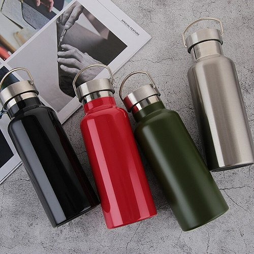1000ml Big Capacity Stainless Steel Double Wall Thermos Flask Outdoor Portable Camping Cycling Climbing Water Bottle Thermo Mug