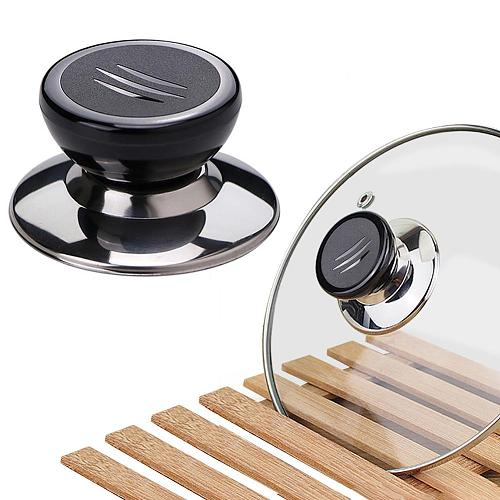 Home Kitchen Pot Lid Stainless Steel Handle Holder Anti-scald Knob Replacement Lid Holder Universal with Mountings