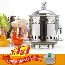 Single person small hot pot one person one pot mini classical court pot buffet stainless steel alcohol stove chafing dish nimi