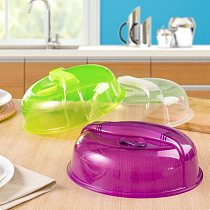 Microwave Oven Crisper Cover Kitchen Bowl Plates Dustproof Cover Lid Dish Food Anti-Oil Cover Food Fresh Preservation Tool
