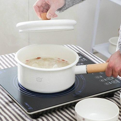 Enamel Thick Pot Soup Induction Gas Cooker Heat Resistant Pot Japanese Non Stick Pentole Da Cucina Kitchen Utensils DE50NG