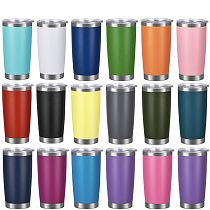 Wholesale 20oz Wine Tumblers Cup with Seal Lid Straw Stainless Steel Coffee Mug Double Wall Straight Cup Wedding Party Gifts