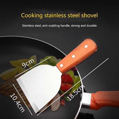 BBQ Cookware Griddle Gadgets Stainless Steel Handle Non-stick Cooking Tool Baking Fried Scraper Steak Shovel Pasta Kitchen