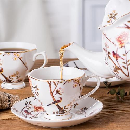 Originality Ceramics Coffee Cup Saucers Suit English Style Afternoon Tea Restaurant Caffe Espresso Scented Tea Black Tea Cup