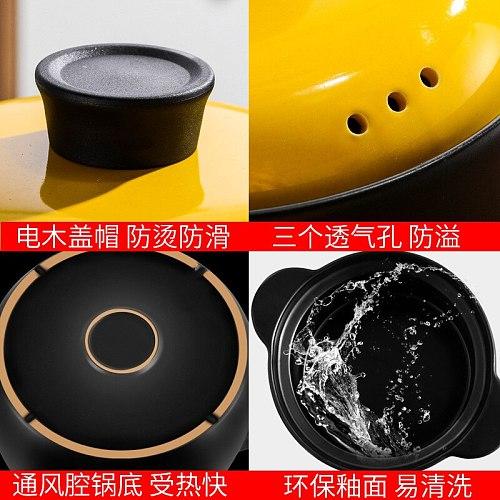 2.5L Korean Heat Resistant Soup Casserole High Temperature Open Flame Gas Heat Resistant Porcelain Casserole