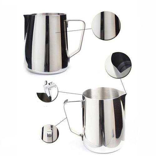 Stainless Steel Frothing Pitcher Pull Flower Cup Cappuccino Coffee Milk Mugs Milk Frothers & Latte Container