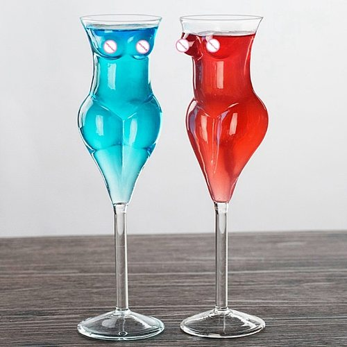 Creative Wine Glass Tumbler Female Shape Wine Design Cocktail Drink For Family Creative Gifts
