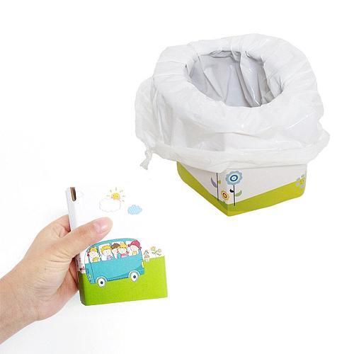 Hot Portable Travel Urine Bag Emergency Mobile Mini Toilet Folding Potty Seat For Baby Toilet Training - Children Pot Urinal