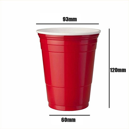 50pcs/lot 450Ml Red Disposable Plastic Cup Party Cup Bar Restaurant Supplies Household Items for Home Supplies